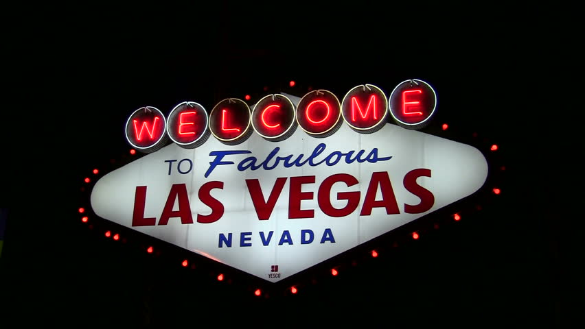 Las Vegas welcome sign at nigh | Shutterstock HD Video #1165675