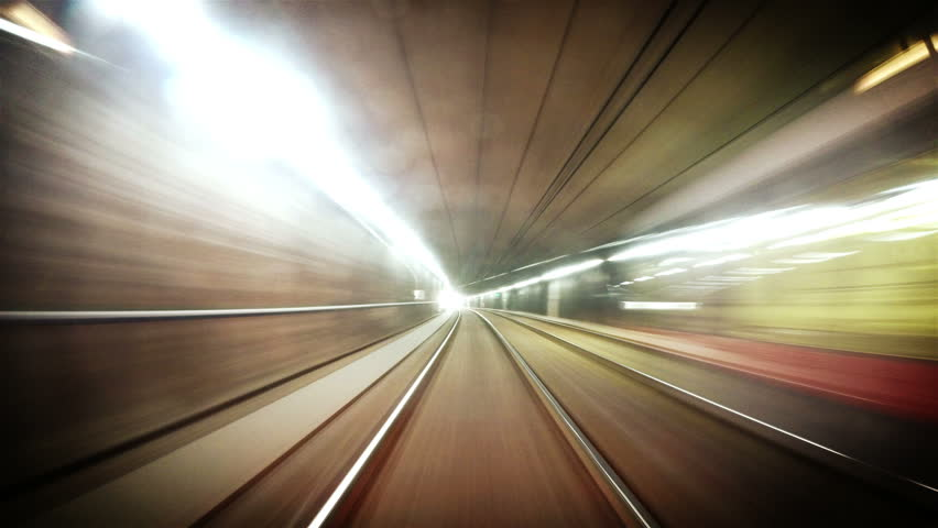 4K quality long footage of an underground train in Vienna following its route | Shutterstock HD Video #11660501