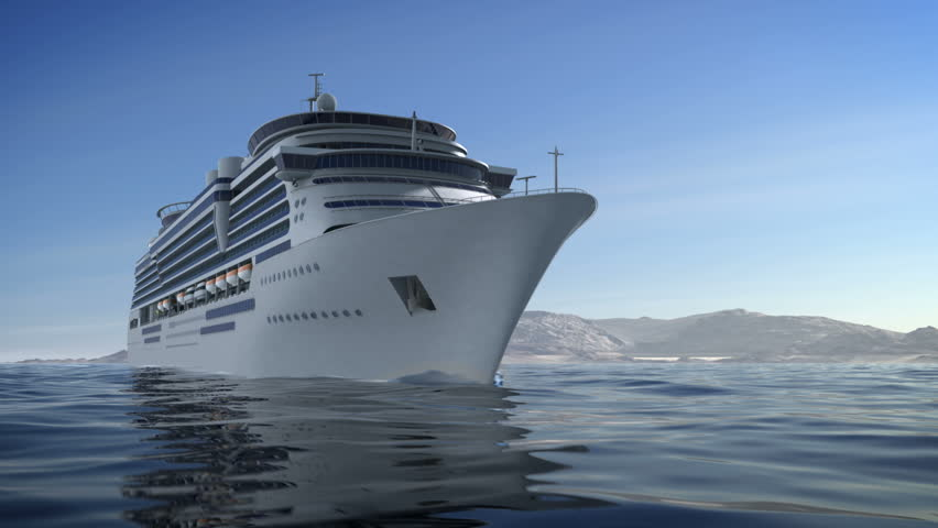 A 1080p HD video of a luxury cruise ship