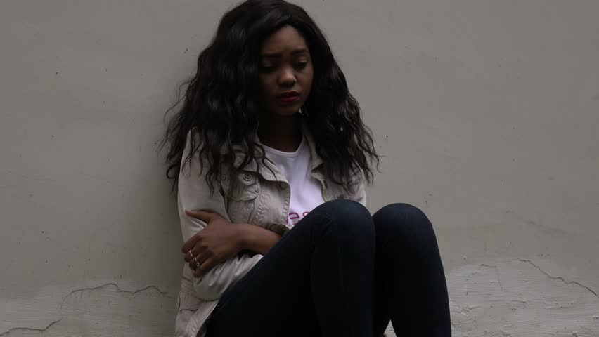 Image result for depressed african woman