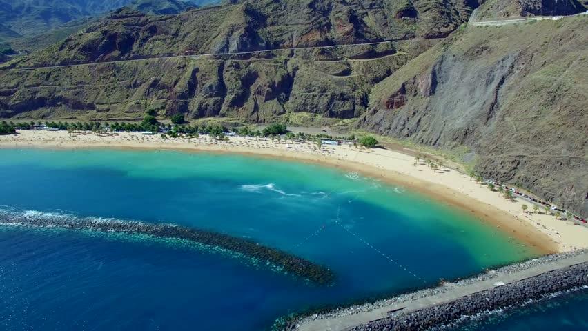 Teresitas beach aerial view