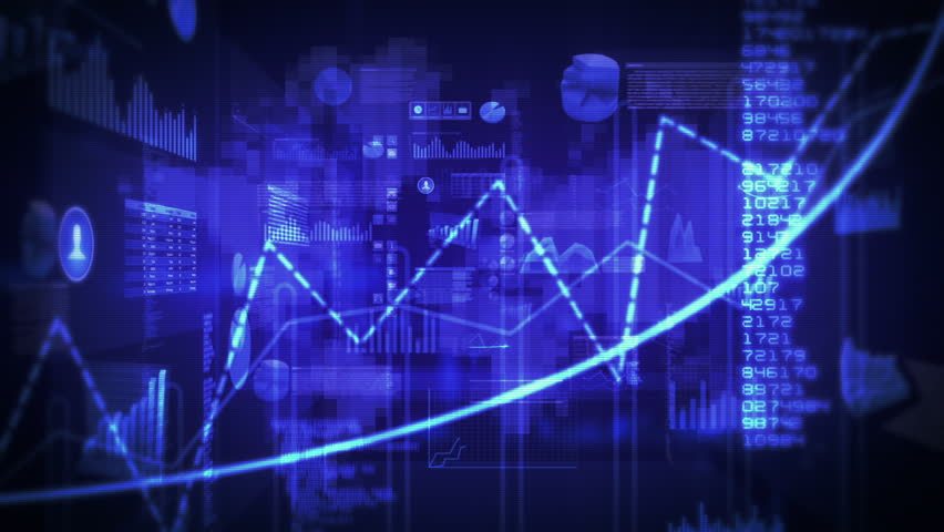 Financial data and charts. Dolly in. Loop able. Blue-Cyan. 2 videos in 1 file. Financial data and charts showing increasing profits. More color options in my portfolio. | Shutterstock HD Video #11727557