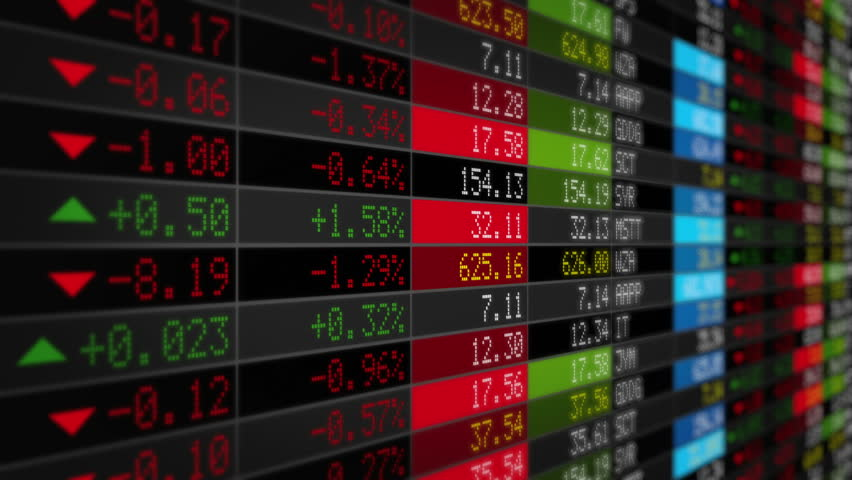 Stock Market Tickers. Black. Zoom out. 3 videos in 1 file. Digital animation of Stock Market prices passing by. Lateral and frontal view with zoom out. More options in my portfolio. | Shutterstock HD Video #11745335