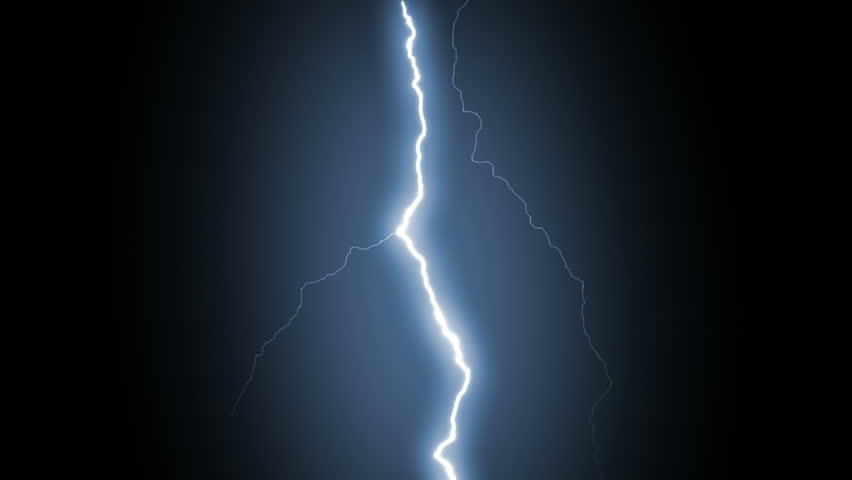 Several lightning strikes over black background. Blue. Electrical Storm. More options in my portfolio. | Shutterstock HD Video #11745674