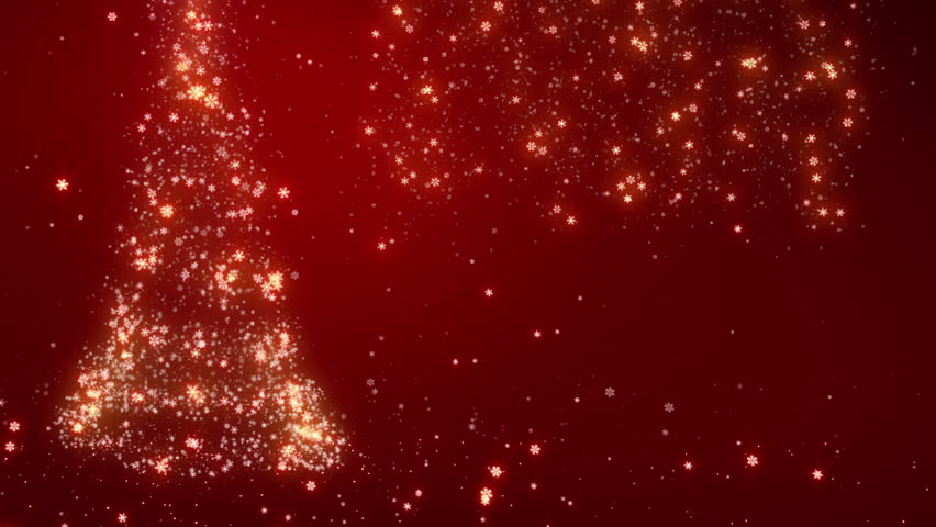 New Year background with bright snow. Bright snowflakes falling forming a Christmas tree and the year 2013. Red. Loopable from frame 391 to the end of the file. More options in my portfolio. | Shutterstock HD Video #11746103