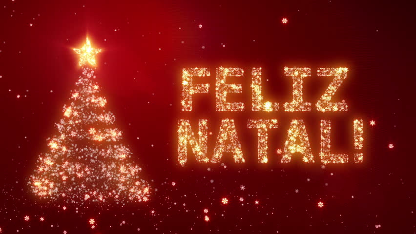 FELIZ NATAL. Christmas Background With Bright Snow. Background ...