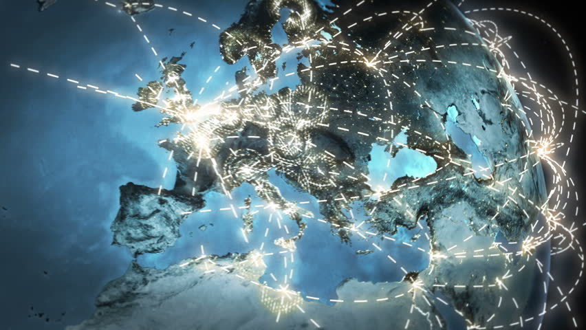 World connections with city lights. Gray. Earth globe. Spinning Earth with light lines growing from major cities all over the world. Loopable. Images courtesy of: NASA http://www.nasa.gov | Shutterstock HD Video #11748395