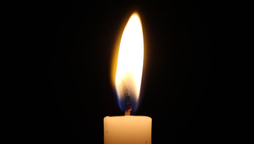 Candle flickering and blown out