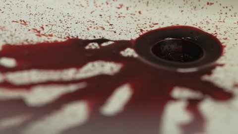 Blood in Sink, Trickling into Plug Hole