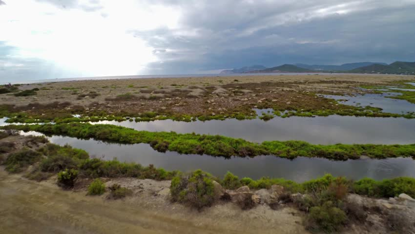 Aerial view of a rocky beach in Ibiza, Spain   Shutterstock HD Video #11848445