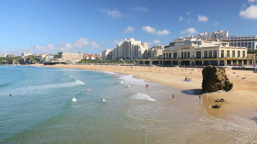 Casino and Hotel du Palais, Grande Plage of Biarritz - 21 of September 2015