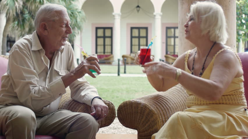 Old people, elderly man and woman, husband and wife, happy senior caucasian couple