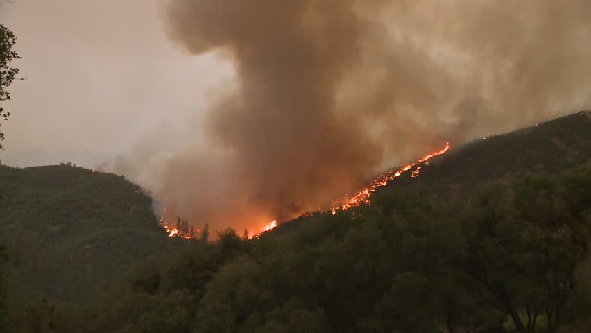 FOREST FIRES OF NORTHERN CALIFORNIA SUMMER 2015 WILD FIRES SMOKE FLAMES FIREFIGHTER CREWS BATTLE THE FIRES DURING THE DRY DROUGHT CONDITIONS HD HIGH DEFINITION STOCK VIDEO FOOTAGE CLIP 1920X1080 | Shutterstock HD Video #11914073