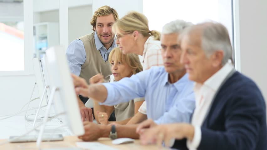 Group of senior people in business training class | Shutterstock HD Video #11916713