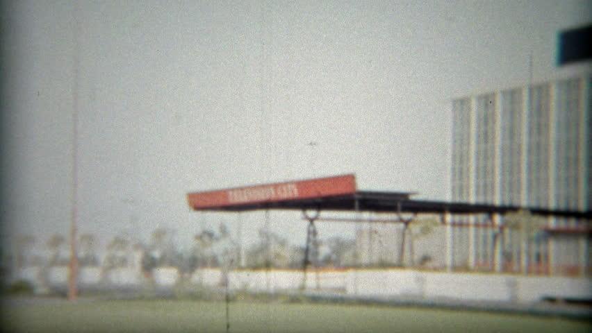 HOLLYWOOD, CALIFORNIA 1953: CBS studios other LA landmark signage of the times.