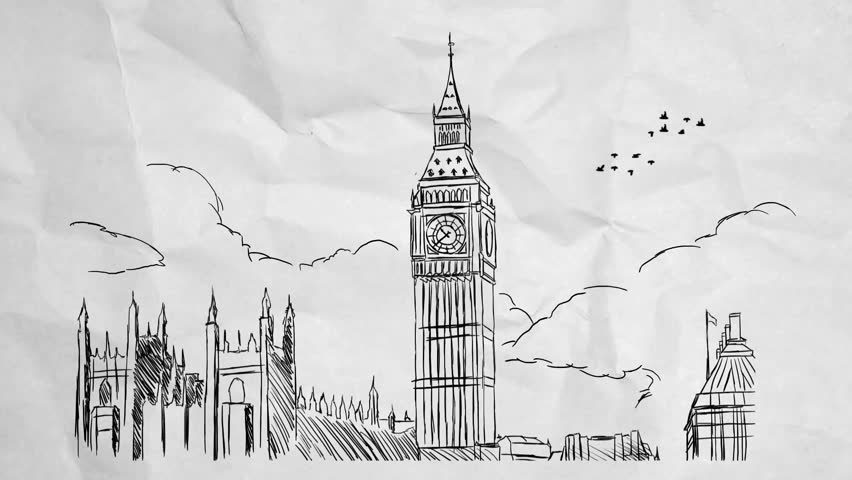London hand-drawn picture