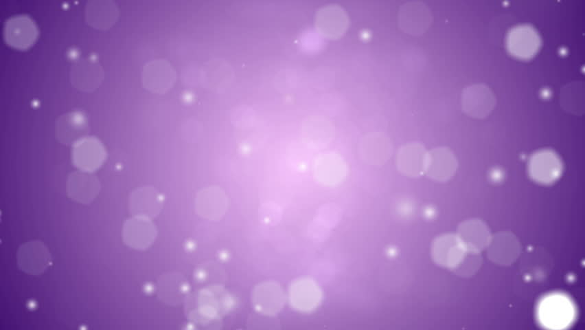 Defocused lights falling like snow from above against a purple background. Looping video.