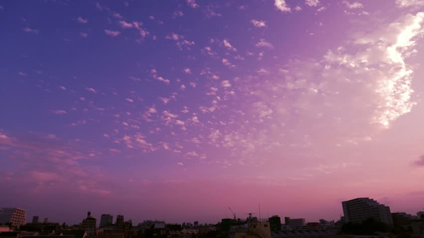 Change interval shooting fix of the night view from the sunset | Shutterstock HD Video #12033755