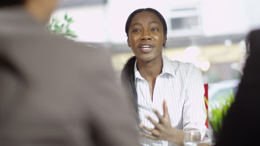 4k Confident female business group discuss ideas in office meeting. Shot on RED Epic. | Shutterstock HD Video #12045965