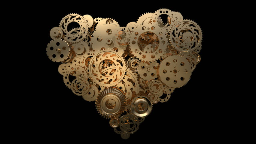heart made of gear wheels loop-able