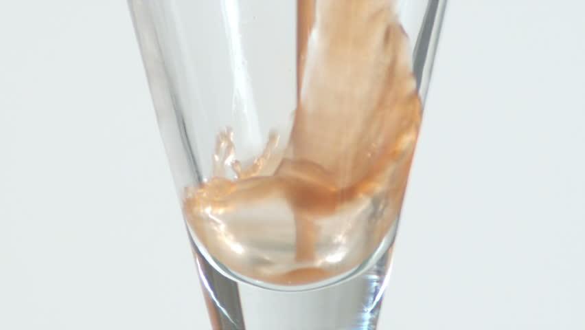 Empty Glass Of Chocolate Milk