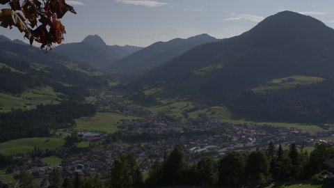 Austrian Village with Mountain S-log 2 for graiding