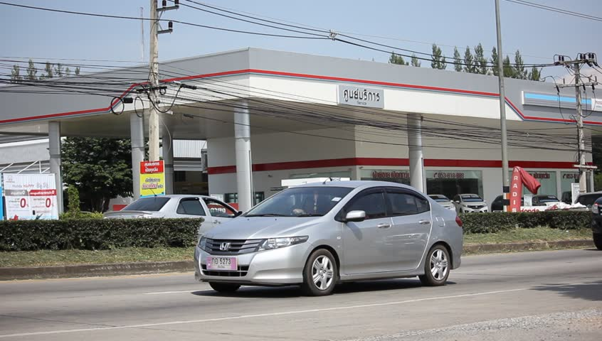 Hd0009CHIANGMAI THAILAND OCTOBER 1 2015 Private Car Honda City Footage At Road No 1001 About 8 Km From Downtown Chiangmai Thailand