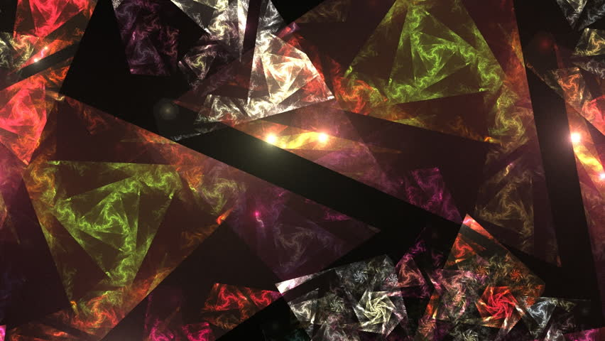 Stained glass. Abstract fractal transformation background. Loopable. | Shutterstock HD Video #121075