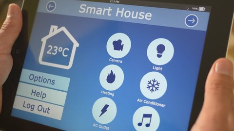 Smart house automation application on tablet controling the temperature of the building. The market is expected to grow of 11.36% between 2014/2020, and reach $12.81 billion by 2020.