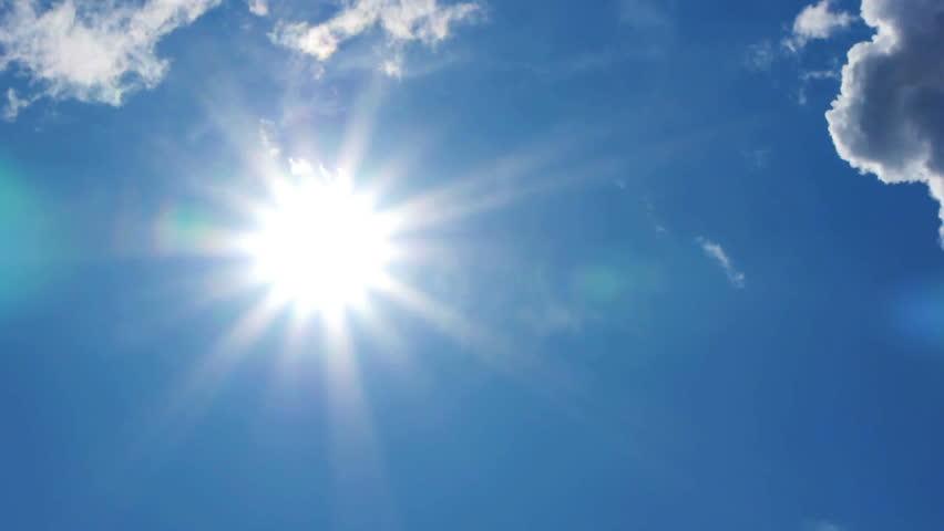 HD - Beautiful summer sun. time lapse #1221028