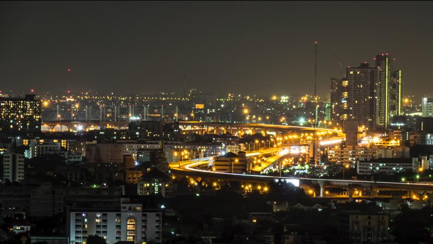 Night Expressways and Cityscape | Shutterstock HD Video #12232985
