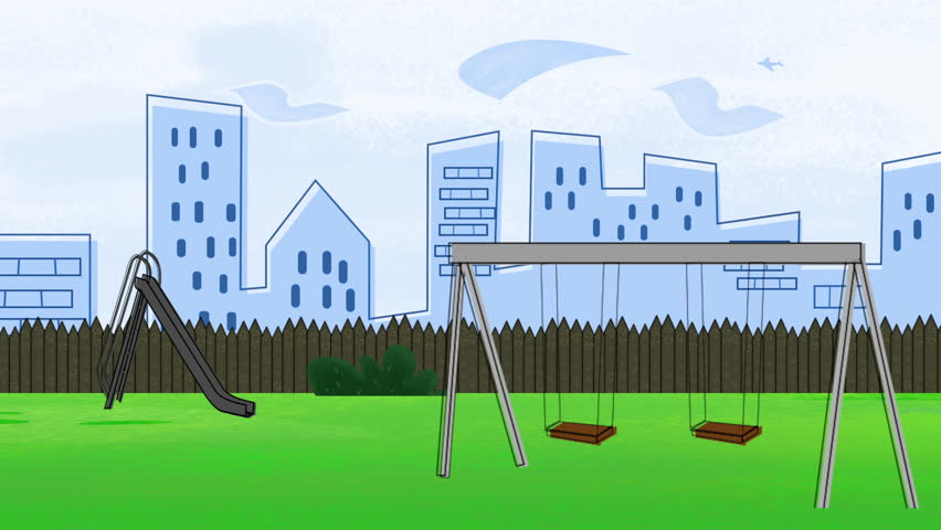 Animated Cartoon Of A Swing Stock Footage Video 100 Royalty Free