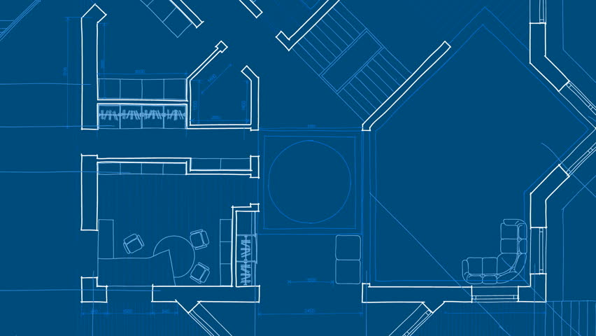 Simple Architecture Blueprints Skyscraper Empty City Blueprint