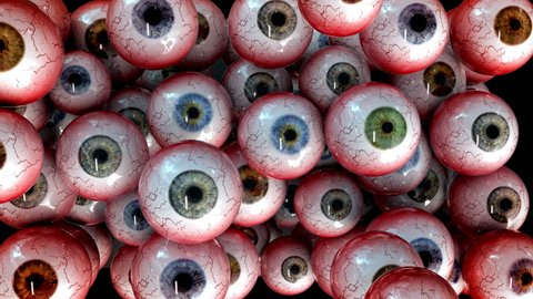 Halloween Eye Balls Screen full of scary bloody Eyeballs looking around or staring at you