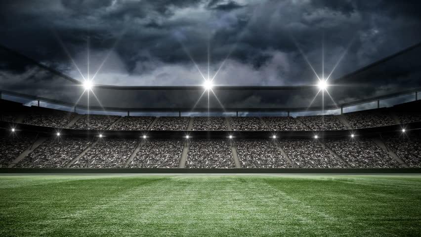 Football stadium at night