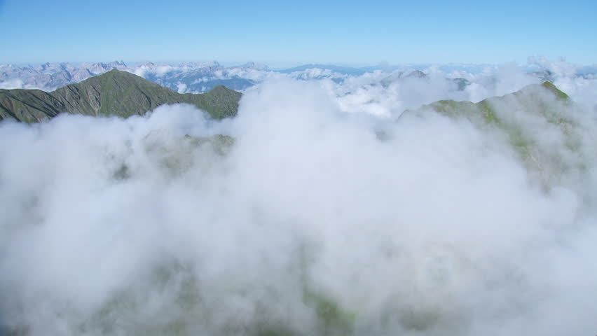 WS PAN AERIAL Clouds over mountains / Villgratental, Tyrol, Austria - 01/01/2015 | Shutterstock HD Video #12351323