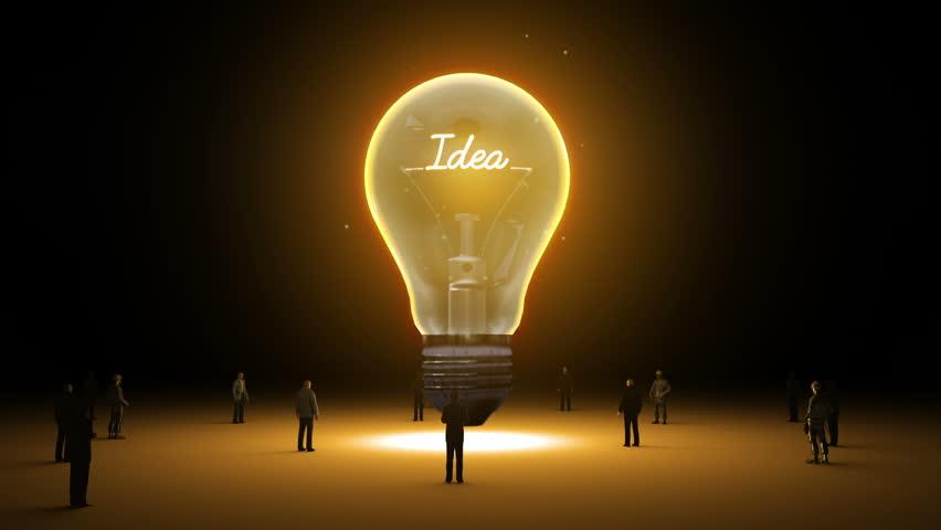 Lightbulb Idea: Typo 'Social Media' In Light Bulb And Surrounded
