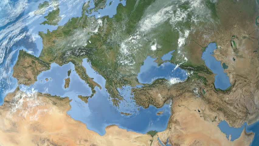 Night to day rotating earth zoom in on albania outlined night to day rotating earth zoom in on hungary outlined satellite high resolution gumiabroncs Images
