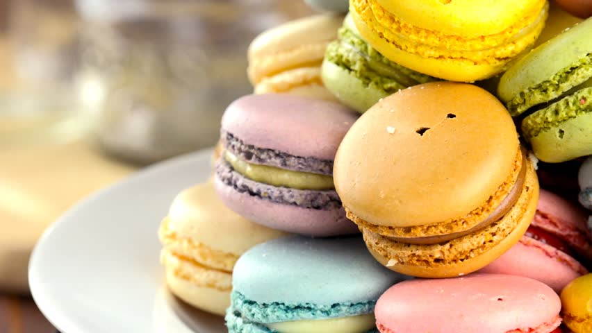 Colorful Macaroons Rotating