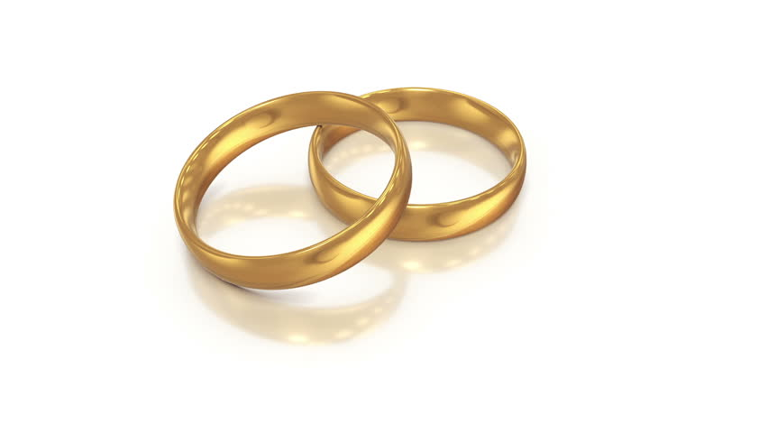 Wedding rings white background