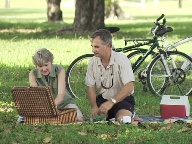 Mature Couple Picnic