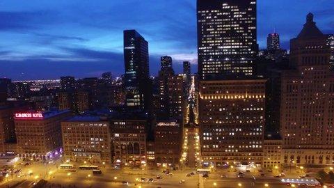 DRONE Chicago Skyline 4k