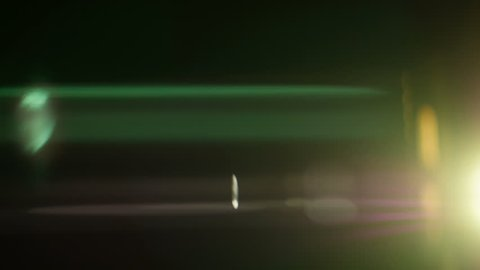 Real anamorphic lens flare. 4K footage.