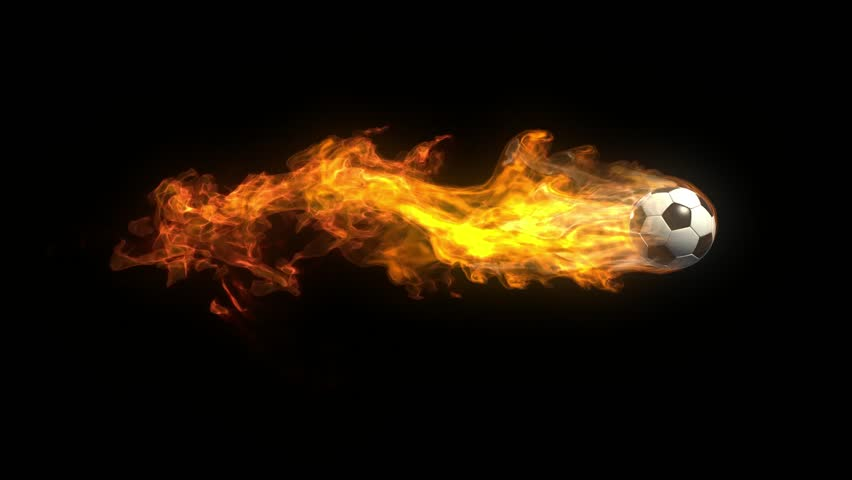 The Ball On Fire Soccer Football Sports Qhd Wallpaper 2: Soccer Fireball In Flames On Black Background, HD Render