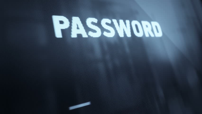 Abstract background with animation of entering password on computer screen with reflection from window. Animation of seamless loop. | Shutterstock HD Video #12633605