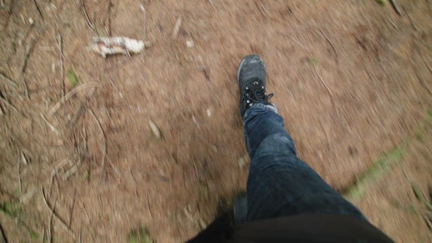 free stock video of feet, path, people