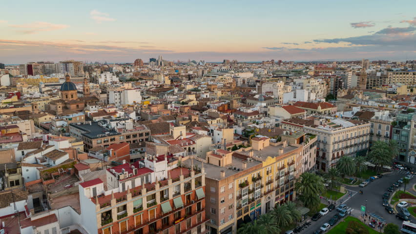 Aerial View Of Valencia Spain Stock Footage Video 100 Royalty Free 12658925 Shutterstock