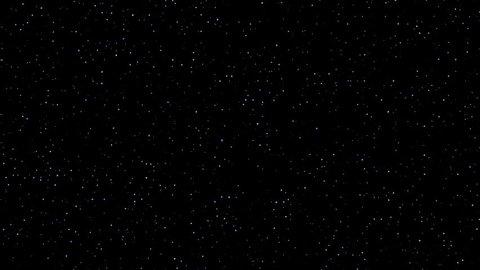 Stars twinkling night sky realistic loop 4k