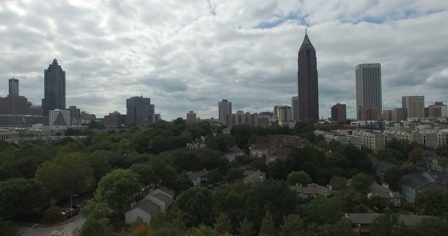 Atlanta downtown aerial #12701882