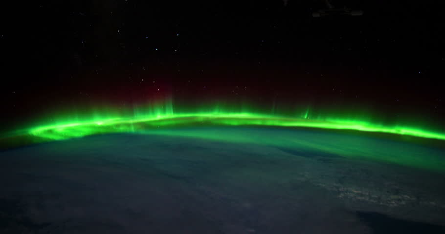 The Northern Lights shine brightly in this time-lapse footage taken from the International Space Station 4K UHD Video courtesy of the Earth Science and Remote Sensing Unit, NASA Johnson 1Space Center